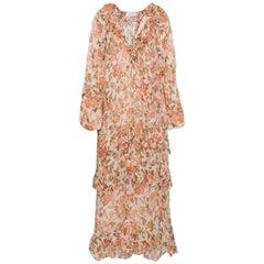 Zimmermann Ruffled-Trimmed Floral-Print Silk-Georgette Midi Dress