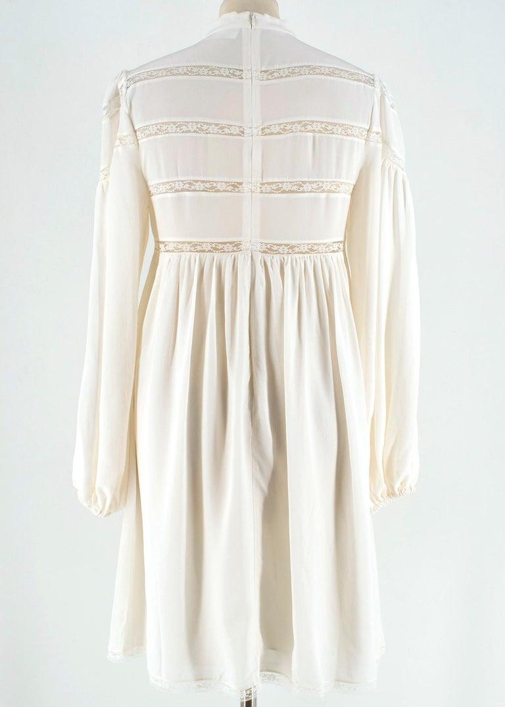 White Zimmermann Silk white high neck mini dress XXS For Sale