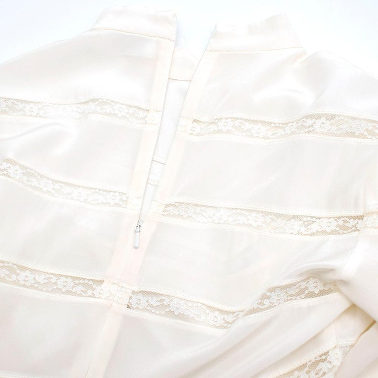 Zimmermann Silk white high neck mini dress XXS In Excellent Condition For Sale In London, GB