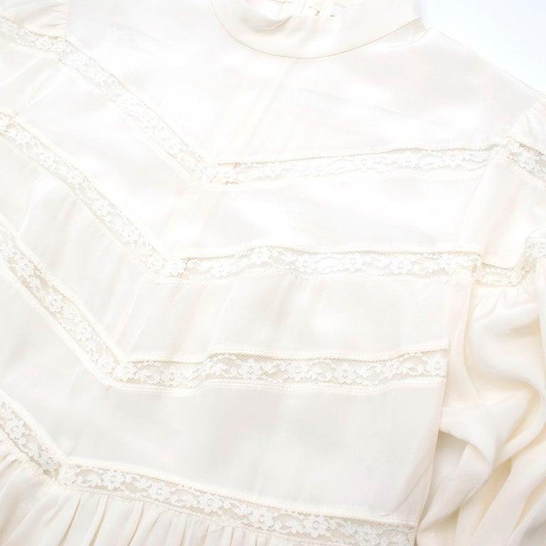 Zimmermann Silk white high neck mini dress XXS For Sale 2