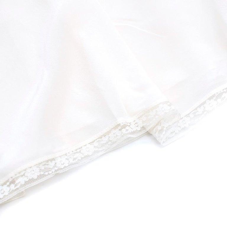 Zimmermann Silk white high neck mini dress XXS For Sale 3
