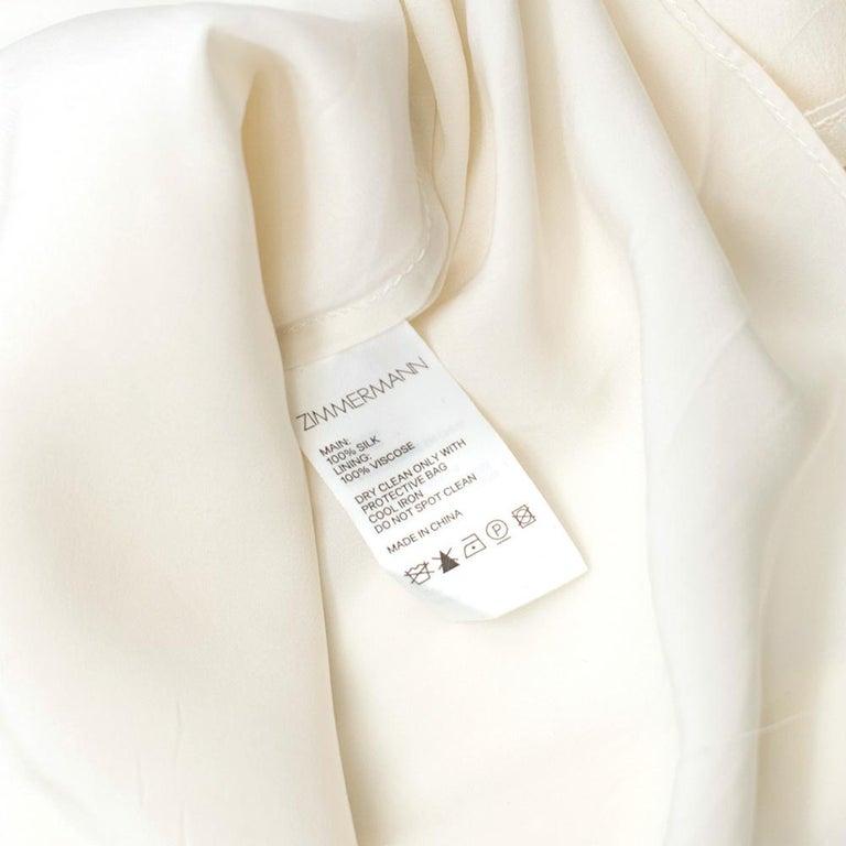 Zimmermann Silk white high neck mini dress XXS For Sale 4