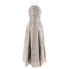 Zimmermann Snake Print Halterneck Dress XS