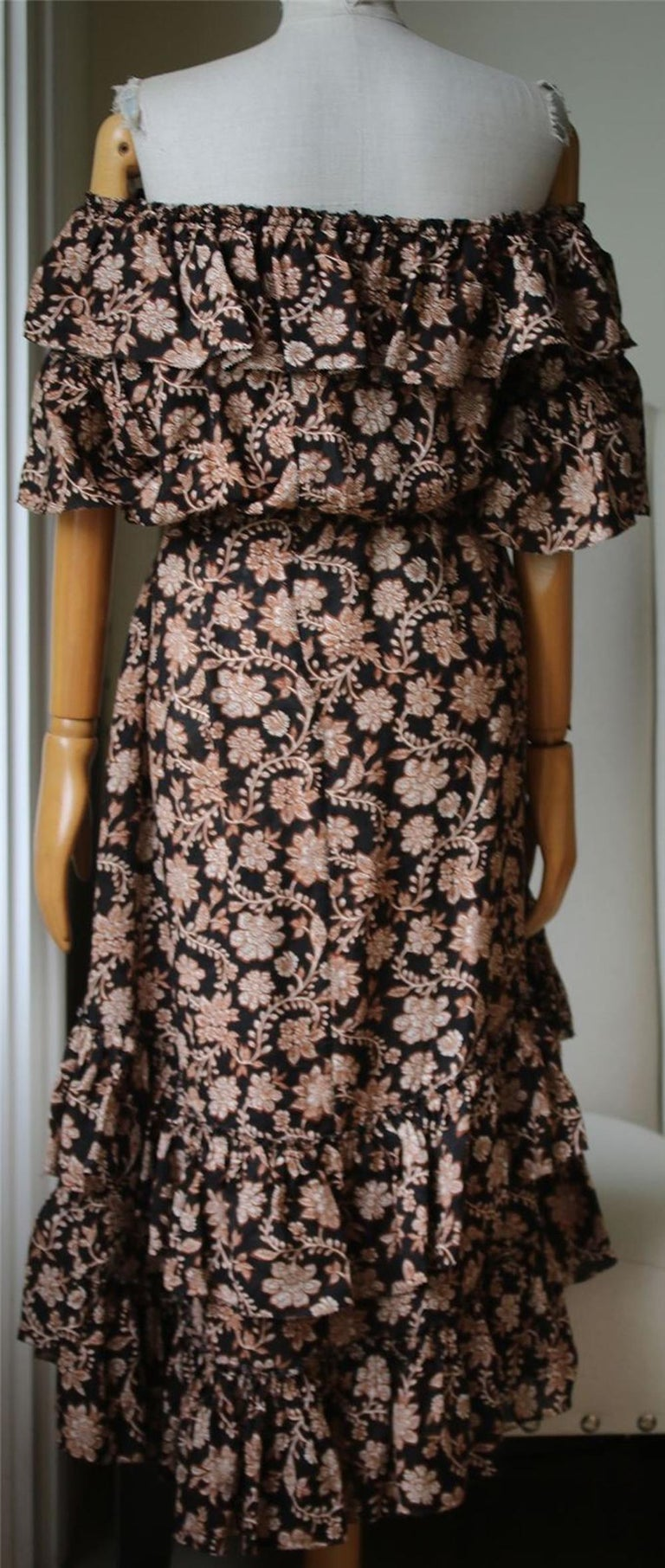 Zimmermann Tulsi Floral-Print Frill Dress  In Excellent Condition For Sale In London, GB
