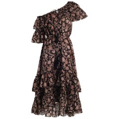 Zimmermann Tulsi Floral-Print Frill Dress