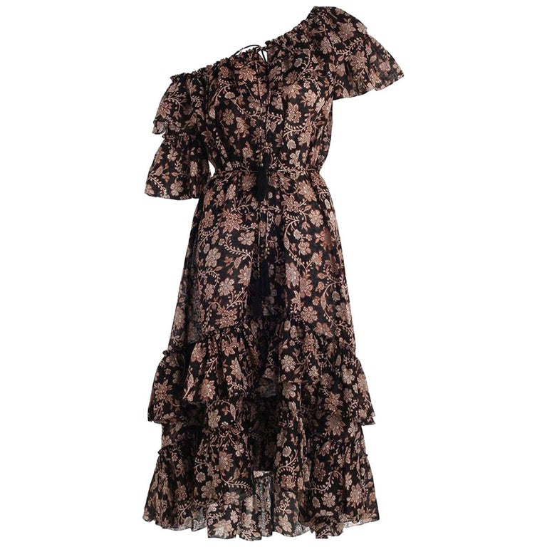 Zimmermann Tulsi Floral-Print Frill Dress  For Sale