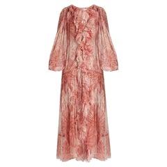 Zimmermann Winsome Tie-Dye Silk-Georgette Ruffled Midi Dress