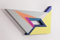Polygon in Space #18, Zin Helena Song, Geometric Abstraction, Mixed Media, Wood