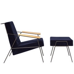 """Zina"" Contemporary Armchair and Ottoman by Zanini de Zanine Caldas"