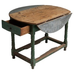 Zinc and Pine Table