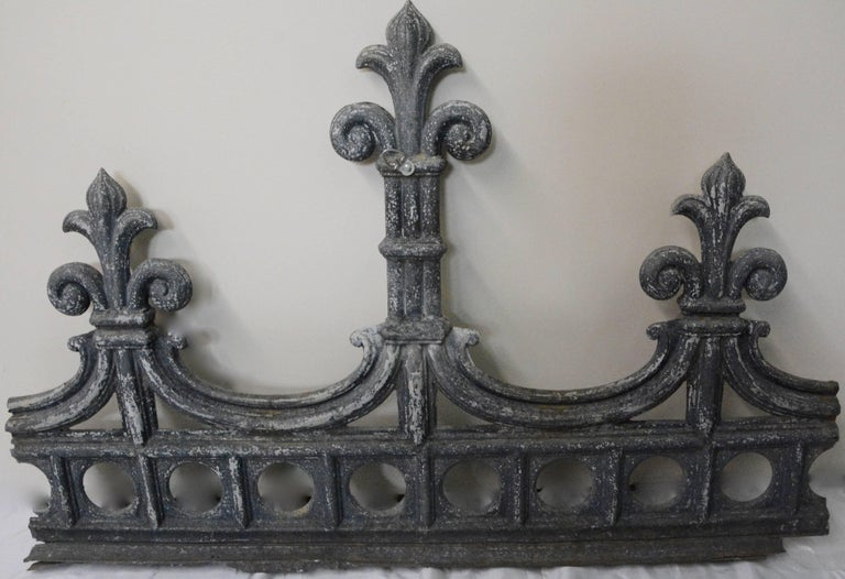 Hand-Crafted Zinc Architectural Fragment, Vintage For Sale