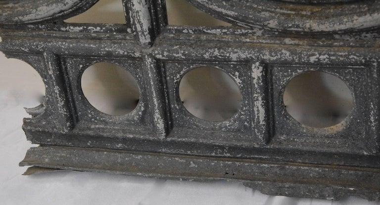 20th Century Zinc Architectural Fragment, Vintage For Sale
