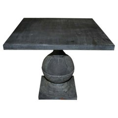 Zinc Covered Pedestal Table
