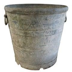 Zinc Cylinder Planter with Handles