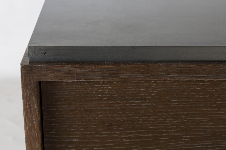 Contemporary Zinc Top Chest of Drawers For Sale