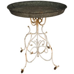 Zinc Top Garden Table or Plant Stand