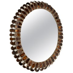 Zinnia, Talosel Mirror Encrusted with Mirrors on the Surrounds
