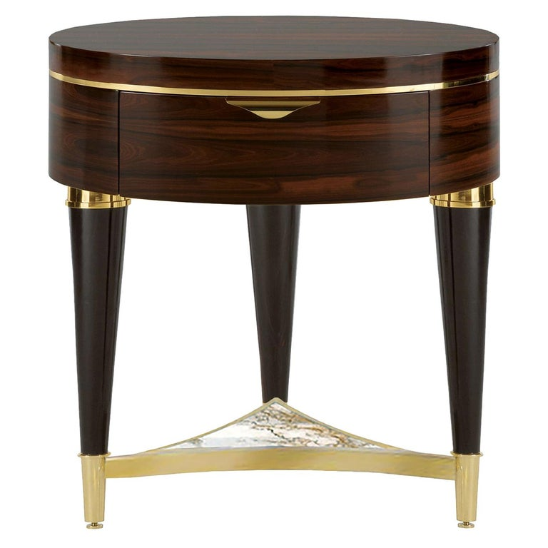 Ziricote Night Table For Sale
