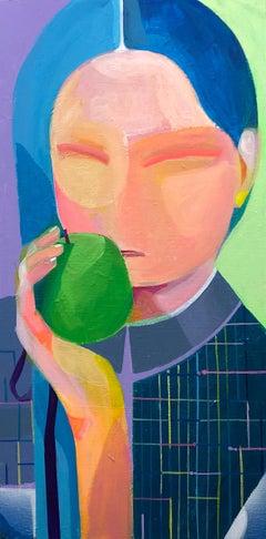 Apple Unframed, Original Painting