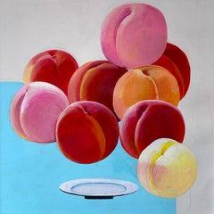 Tumbling Peaches, Original Painting