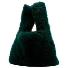 Zizi Donohoe Mini Green Mink Shopper Bag