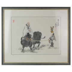 Z.K. Chen, Very Fine Chinese Painting of an OX, 20th Century