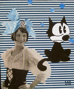 """""""Felix and Louise"""" Mixed media collage"""