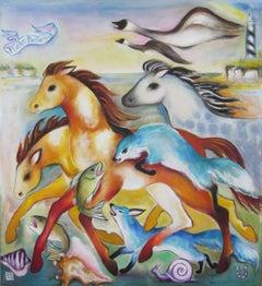 """Flight Patterns"" Oil Painting"