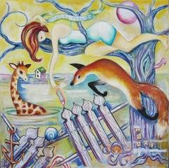 """Mending Fences"" Oil Painting"