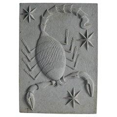 Zodiac Artificial Stone Relif Sign of Scorpio, c. 1940