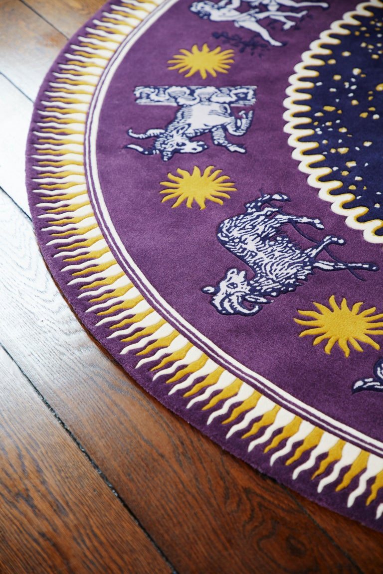 Zodiac Rug by Sasha Bikoff Interior Design In Excellent Condition In New York, NY