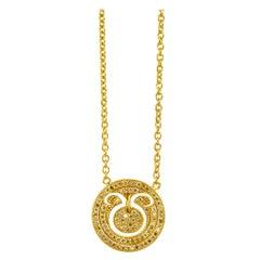 Zodiac Taurus 18 Karat Gold Plated Necklace Suneera