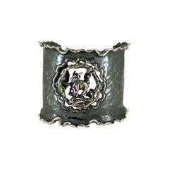 Zodiak Aries Organic Silver Adjustable Cuff Bracelet