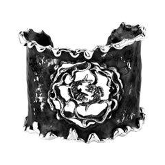 Zodiak Pieces Organic Silver Cuff Bracelet