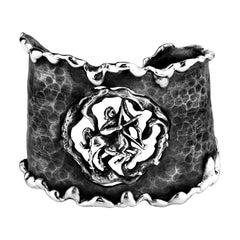 Zodiak Sagittarius Organic Silver Cuff Bracelet