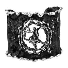 Zodiak Virgo Organic Silver Adjustable Cuff Bracelet