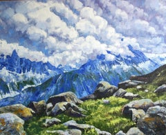 Alpine Heights, Painting, Oil on Canvas