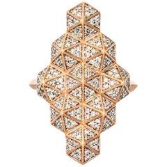Zoe & Morgan Fifth Dimension Rose Gold Diamond Cocktail Ring
