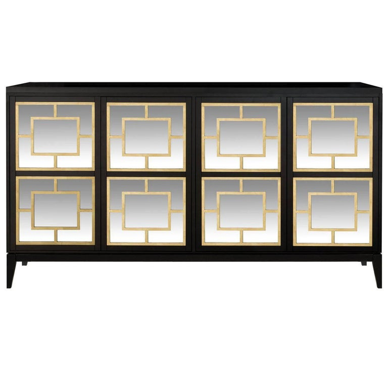 Zoe Sideboard with Mirror Decorations with Tapered Legs