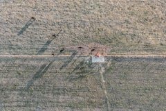 """Farmland Shadows"", Contemporary Landscape  Color Photograph, 30""x45"""