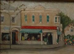 """Paris"" Oil Painting 20"" x 28"" inch by Zohra Efflatoun"