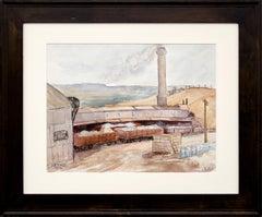 Golden Cycle Mine (Old Colorado City, Colorado), Vintage Watercolor