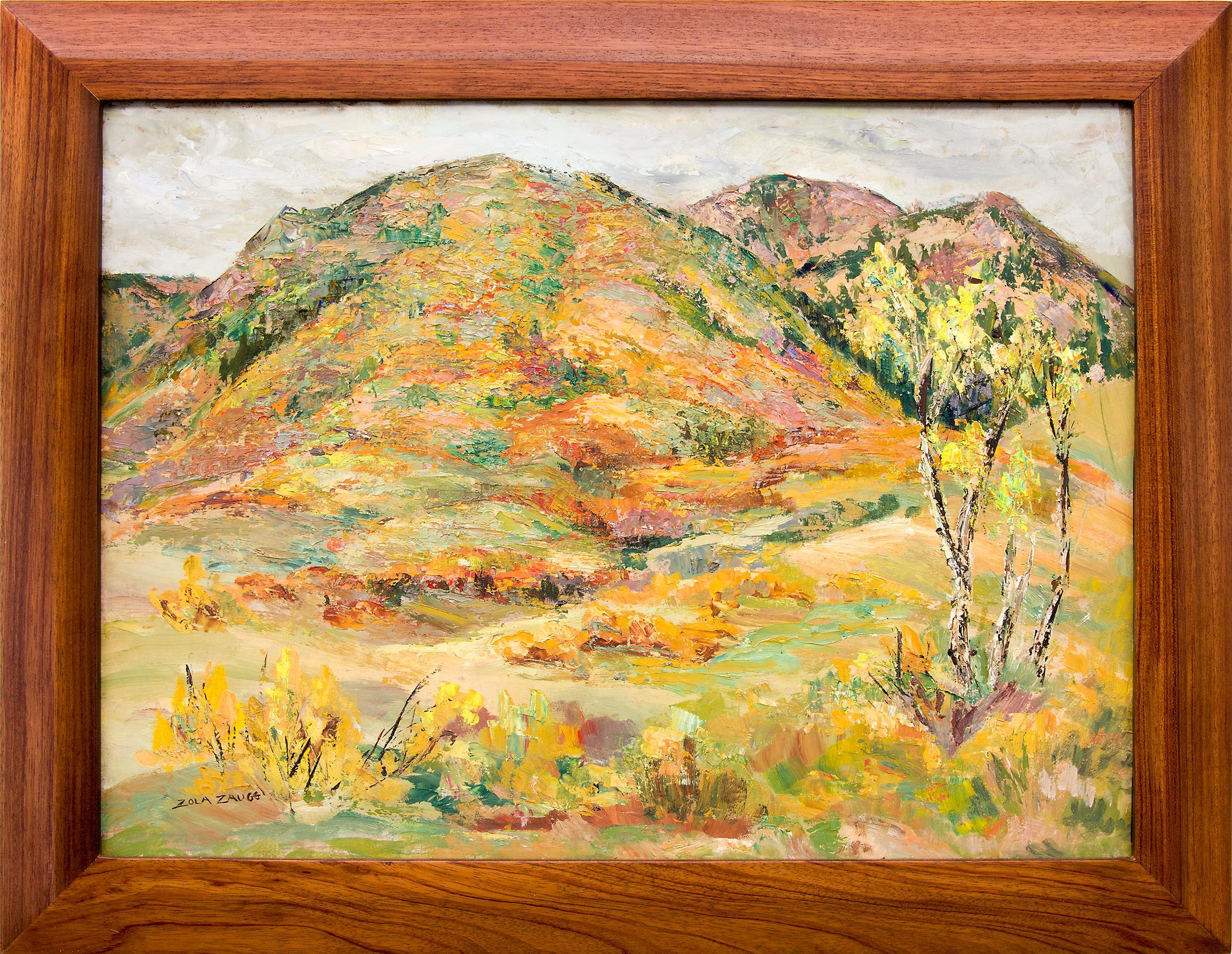 Mountain Landscape Painting, Autumn, Near Colorado Springs, CO, circa 1950