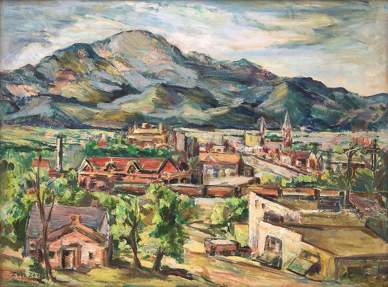Untitled (Colorado Springs, Colorado) - Painting by Zola Zaugg