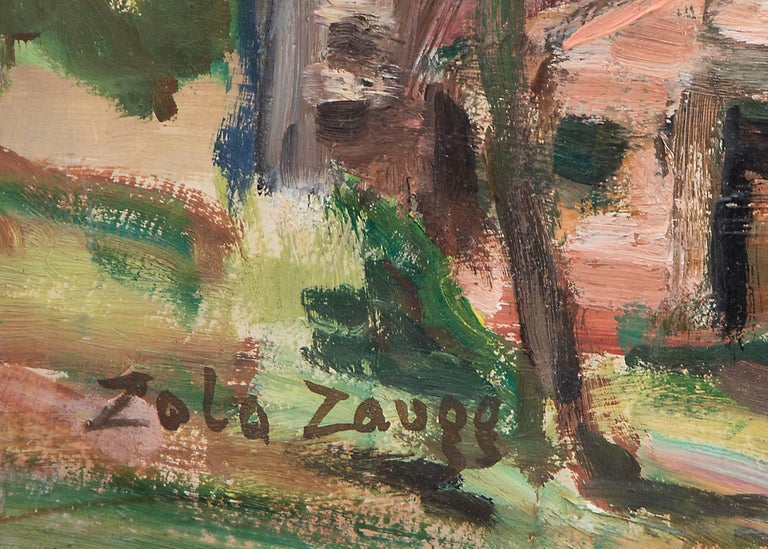 Untitled (Colorado Springs, Colorado) - American Impressionist Painting by Zola Zaugg