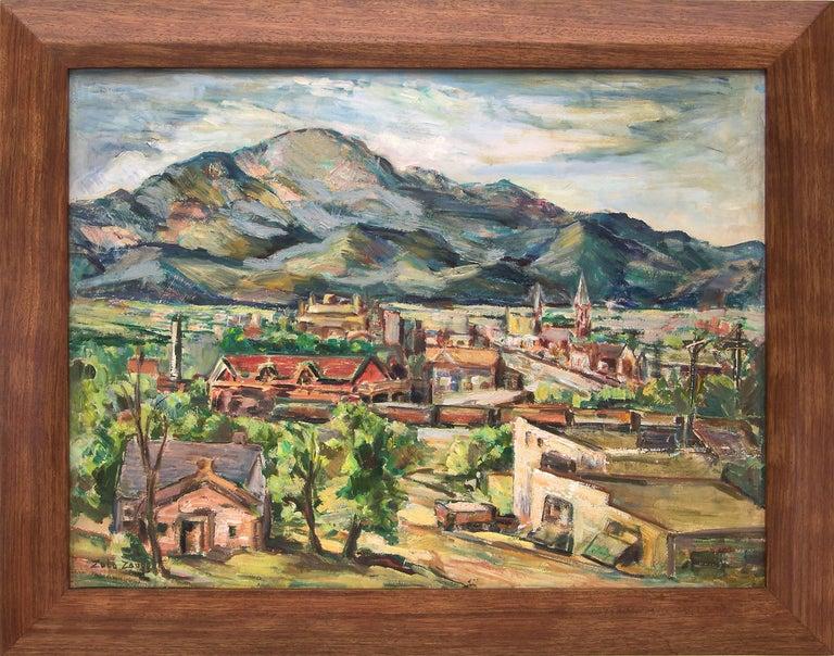 Zola Zaugg Figurative Painting - Untitled (Colorado Springs, Colorado)