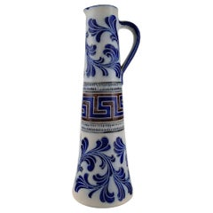 Zoller, Germany, Large Beer Mug in Hand Painted Ceramics, Mid-20th Century