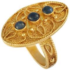 Zolotas 18 Karat Yellow Gold Sapphire Cabochon Ring