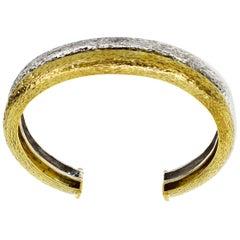Zolotas Bangle Bracelet 18 Karat Yellow Gold 950 Silver