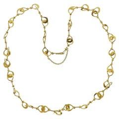 Zolotas Greece Gold Link Necklace